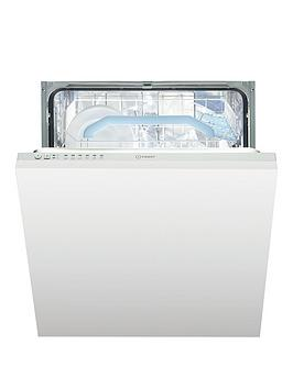 Indesit Dif16B1Uk 13-Place Full Size Integrated Dishwasher With Quick Wash And Optional Installation - White - Dishwasher With Installation