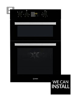 indesit-aria-idd6340bl-built-in-double-electric-oven-black