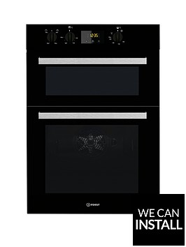 indesit-aria-idd6340bl-built-in-double-electric-oven-with-optional-installation-black