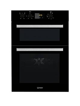 Indesit Aria Idd6340Bl Built-In Double Electric Oven - Black - Oven Only