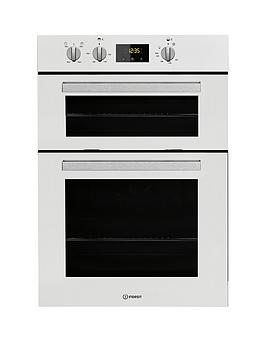indesit aria idd6340wh built-in double electric oven  - oven only
