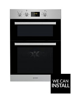 indesit-aria-idd6340wh-built-in-double-electric-oven-stainless-steel