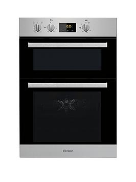 Indesit Aria Idd6340Ix Built-In Double Electric Oven - Stainless Steel - Oven Only