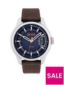 hugo-boss-hugo-boss-orange-hong-kong-sport-blue-dial-brown-fabric-strap-mens-watch