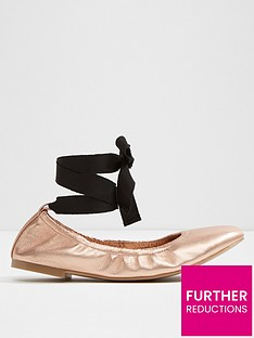 aldo-aldo-phay-round-toe-elasticated-ballerina-with-ankle-tie