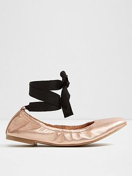 aldo-aldo-phay-round-toe-elasticated-ballerina-with-ankle-tie
