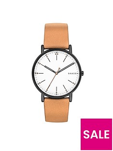 skagen-skagen-signatur-silver-tone-dial-tan-leather-strap-mens-watch