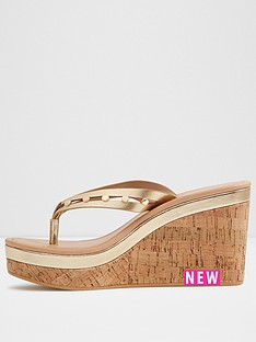 aldo-costalpino-thong-eva-wedge-gold