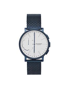 skagen-skagen-connected-hagen-hybrid-white-dial-blue-mesh-smart-watch