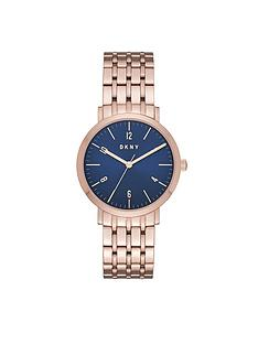 dkny-dkny-minetta-blue-dial-rose-tone-bracelet-ladies-watch