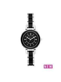 dkny-dkny-ellington-black-dial-stainless-steel-bracelet-ladies-watch
