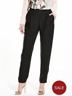 wallis-satin-back-tapered-trouser-black