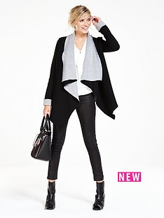 wallis-short-double-faced-waterfall-cardigan