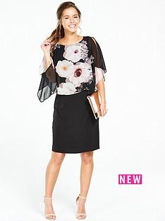 wallis-petite-rose-overlay-dresss