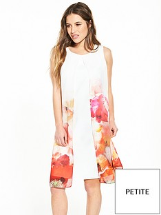 wallis-petite-printed-split-front-2-in-1-dress
