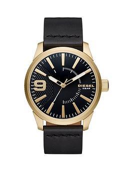 diesel-rasp-black-dial-black-leather-strap-mens-watch