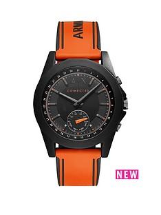 armani-exchange-armani-exchange-connected-drexler-black-dial-orange-silicone-smart-watch