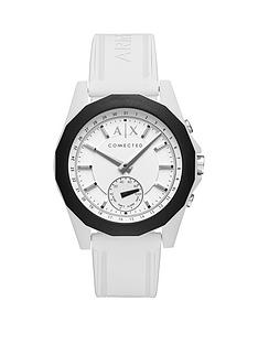 armani watches armani exchange watches for men very armani exchange connected white dial white silicone smart watch
