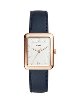fossil-fossil-atwater-silver-tone-dial-blue-leather-strap-ladies-watch