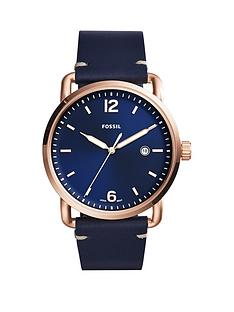 fossil-fossil-communter-blue-dial-blue-leather-strap-mens-watch
