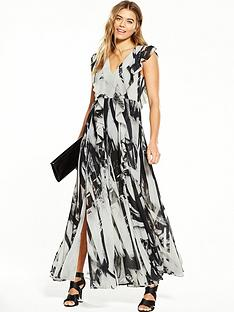 religion-limit-maxi-dress-whiteblack