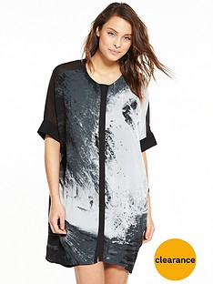 religion-amore-shirt-dress-blackwhite