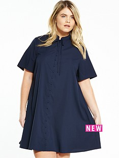 fashion-union-curve-curve-bow-tie-shirt-dress-navy