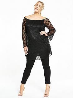 so-fabulous-curve-pleated-lace-swing-tunicnbsp--black