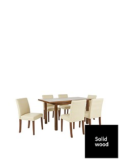evelyn-120-150-cm-solid-wood-extending-dining-table-6-lucca-chairs