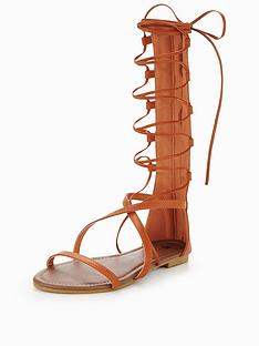 v-by-very-amy-high-leg-gladiator-sandal-tan