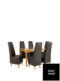evelyn-120-cm-solid-wood-and-glass-dining-table-6-manhattan-chairs