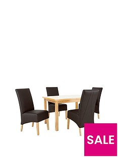evelyn-120-150-cm-solid-wood-extending-dining-table-4-eternity-chairs