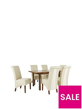 evelyn-120-150-cm-solid-wood-extending-dining-table-6-sienna-chairs