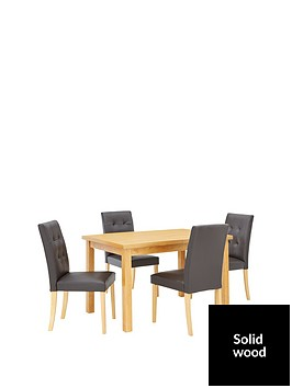 evelyn-120-150-cm-solid-wood-extending-dining-table-4-derby-chairs