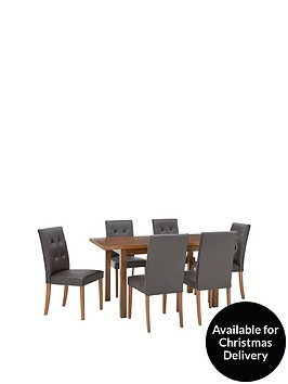 evelyn-120-150-cm-solid-wood-extending-dining-table-6-derby-chairs