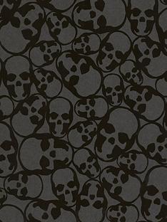 graham-brown-skulls-wallpaper-ndash-black