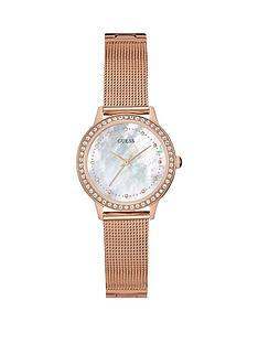 guess-chelseanbspladies-rose-gold-mesh-bracelet-watch