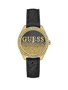 guess-glitter-girl-guess-ladies-black-and-gold-watch-with-a-glitter-logo-dial-and-crystal-detailing