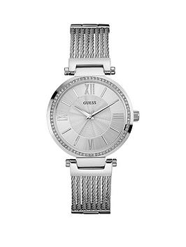 guess-soho-guess-ladies-silver-watch-with-wire-bracelet
