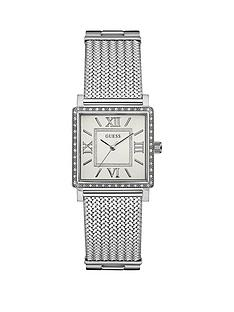 guess-highline-guesss-ladies-silver-watch-with-crystal-detailing-and-silver-mesh-bracelet