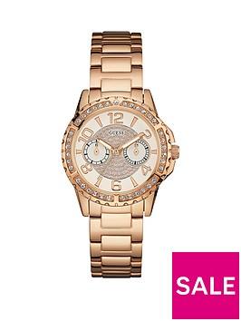 guess-sassy-rose-gold-tone-multifunctional-dial-stone-set-bracelet-ladies-watch