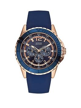 guess-maverick-guess-mens-rose-gold-and-blue-silicone-watch