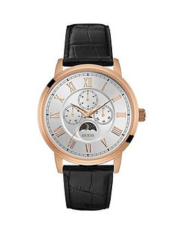 guess-delancy-guess-men039s-rose-gold-watch-with-black-crocodile-strap