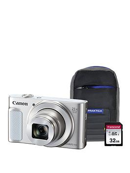 Canon Canon Powershot Sx620 Hs White Camera Kit In 16Gb Sdhc Class 10 Card &Amp; Case