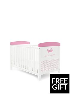 obaby-free-foam-mattressgrace-inspire-little-princess-cot-bed-amp-foam-mattress