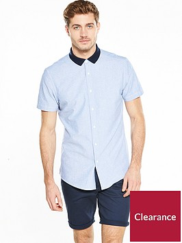 v-by-very-short-sleeve-contrast-collar-shirt