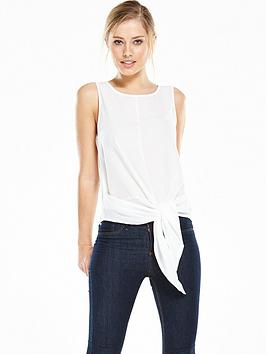 vero-moda-trisha-tie-bow-top-white