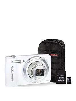 Image of Praktica Luxmedia Z212 White Camera Kit Inc 16Gb Microsd Class 6 Card &Amp; Case