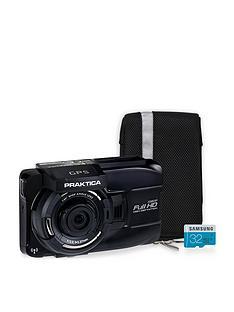 Praktica 10GW Wireless GPS Car Dash Cam Kit inc 32GB MicroSD, SD Adapter & Case