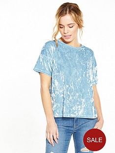 v-by-very-petite-petite-crushed-velvet-boxy-top